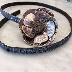 Loft 100% Genuine Leather Flower Belt
